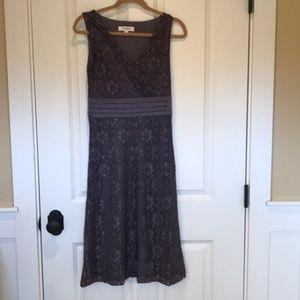 Lavender v-neck A line dress, size XS